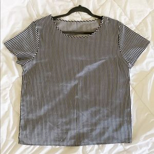 American Apparel striped fluid T